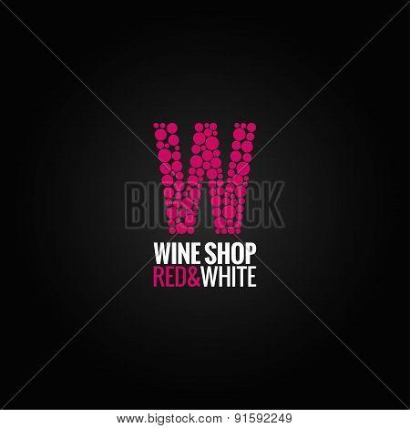 wine logo deign background