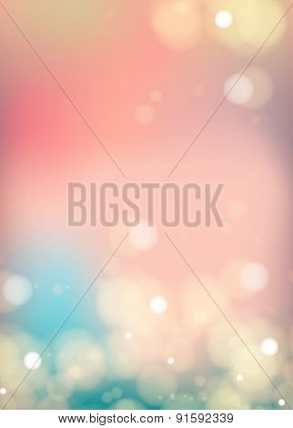 Bokeh light Vintage background easy editable