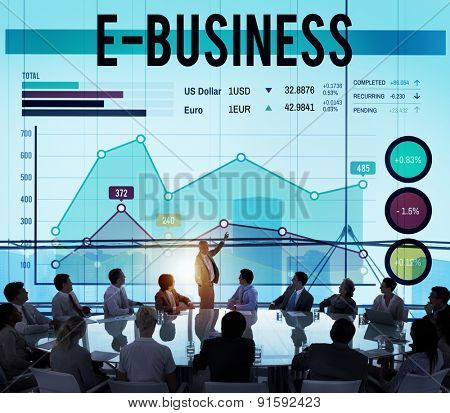 E-business Online Technology Marketing Business Concept