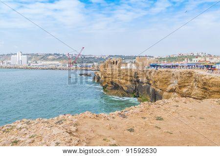 SAFI, MOROCCO, APRIL 6, 2015: Ksar al-Bahr, the Portuguese fortress built to protect the city