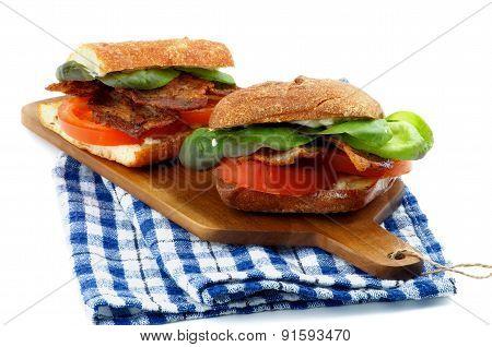 Ciabatta Bacon Sandwiches