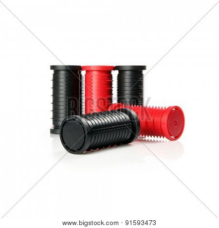 Hairdressing rollers isolated