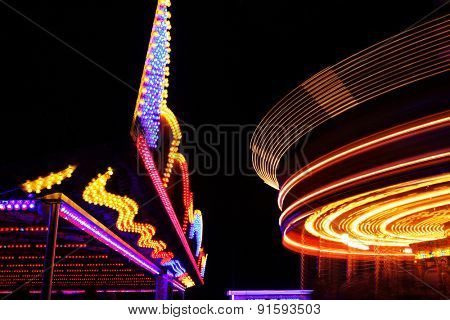fairground at night