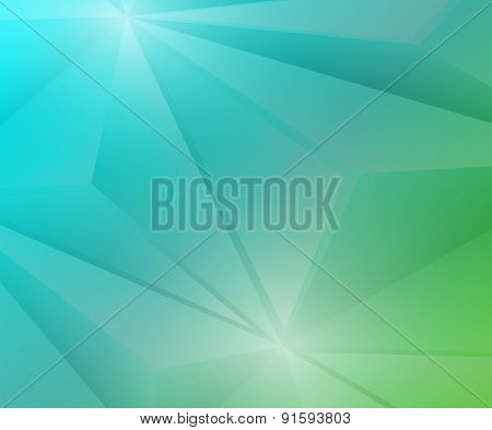 Poligon Geometric Green and Blue Gradient Background