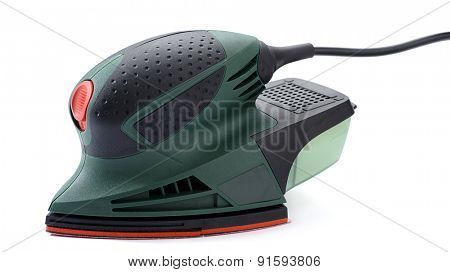 Electrical sander isolated on white background