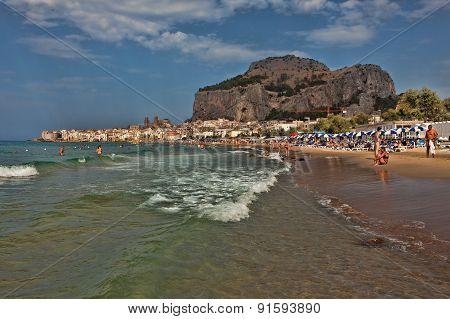 Beach Of Cefalu