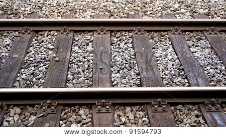 Track Of Train Railway Station Interlaken