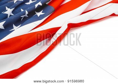 Usa Flag With Place For Your Text - Studio Shot