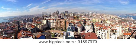 panorama view of the European side of Istanbul