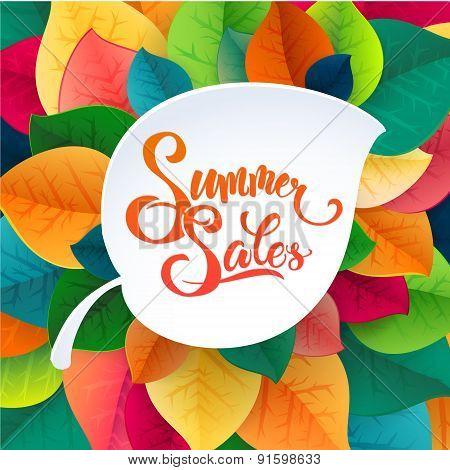 Summer sale promotoin poster