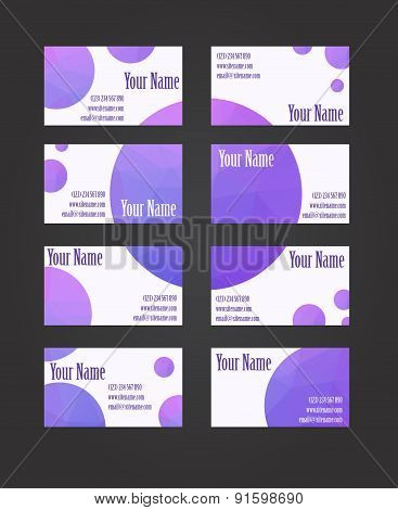 Set of eight visit cards