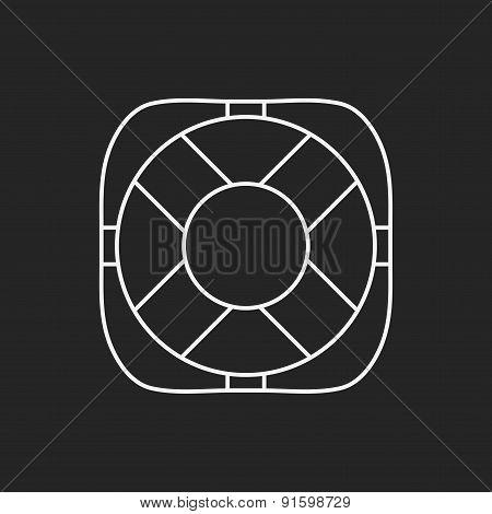 Lifebuoy Line Icon