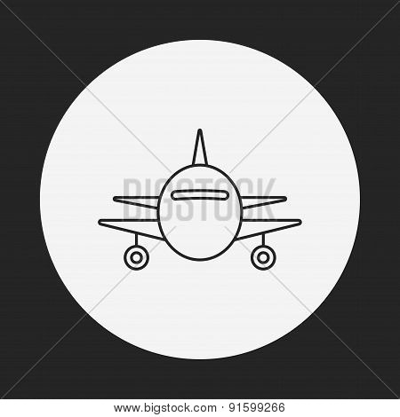 Airplane Line Icon