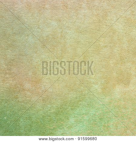 Green watercolor painted on textured paper close up - Abstract Background