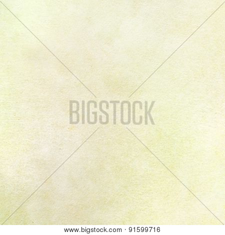 Yellow watercolor painted on textured paper close up - Abstract Background