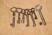 image of hasp  - Some vintage keys from the locks on old cloth - JPG