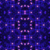 foto of kaleidoscope  - Kaleidoscopic mosaic blue - JPG