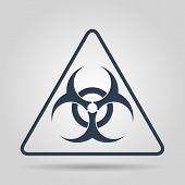 image of biological hazard  - Vector biohazard sign or icon flat Illustration - JPG