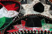 picture of mexican fiesta  - sequin and decorative ornate mexican hat ready for a fiesta - JPG