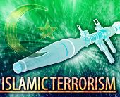 picture of war terror  - Abstract background digital collage concept illustration Islamic terrorism extremism - JPG