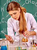 pic of chemistry  - Chemistry teacher with test - JPG