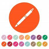 image of ballpoint  - The ballpoint pen icon - JPG