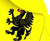 picture of pomeranian  - 3D Flag of Pomeranian Voivodeship Poland - JPG