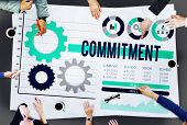 stock photo of promises  - Commitment Compliance Loyalty Pledge Promise Concept - JPG