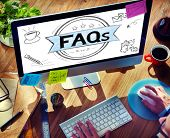 picture of faq  - Faq Frequently Asked Questions Guidance Explanation Concept - JPG