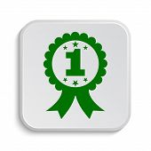 image of prize  - First prize ribbon icon - JPG