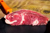image of beef shank  - Piece of raw beef and veal - JPG