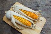 picture of corn-silk  - Organic dry brown corn - JPG
