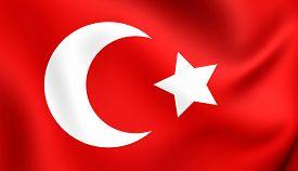 image of ottoman  - 3D Flag of Ottoman Empire  - JPG