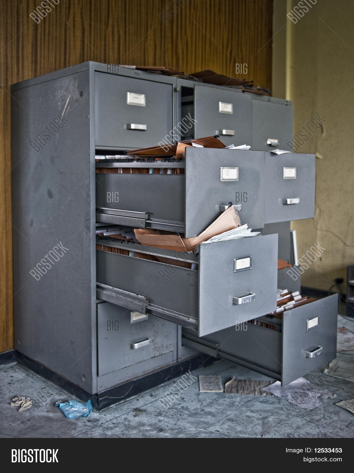 Messy Filing Cabinets Image & Photo | Bigstock