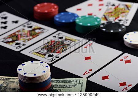 Close Up Of Gamble Bet