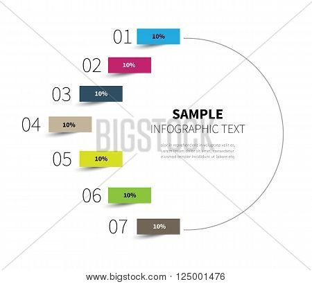 stock vector diagram circle for statistics steps