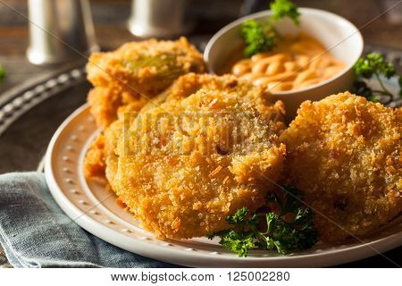 Homemade Fried Green Tomatoes Ready to Eat