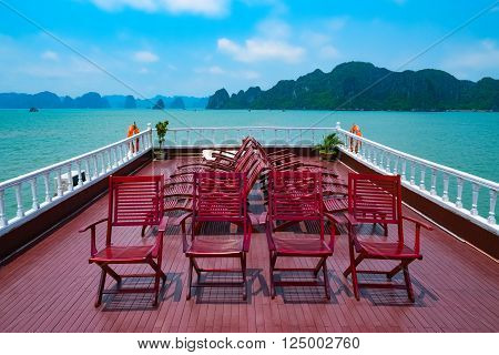 Cruise in Halong Bay, Vietnam, Southeast Asia