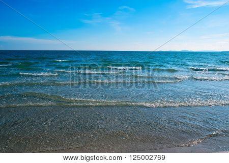 Tropical sand beach, Sihanoukville, Cambodia, Southeast Asia