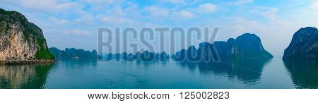 Panoramic view of Halong Bay, Vietnam, Southeast Asia
