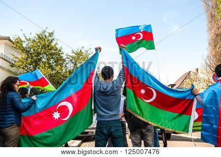 Azerbaijan Armenia Conflict Protest In Front Of Embassy
