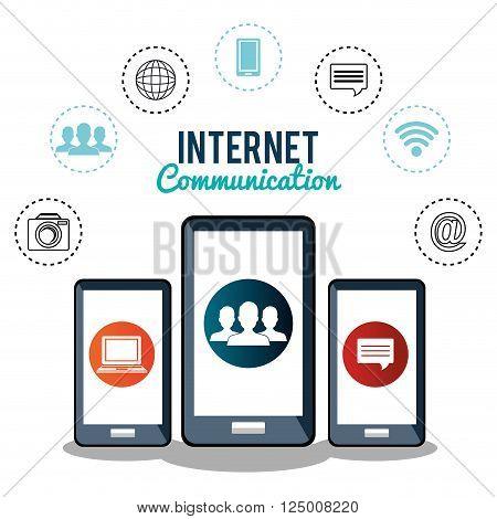 internet communication design, vector illustration eps10 graphic