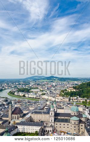 Picture of the Salzburg. Cityscape of Slazburg town, Austria