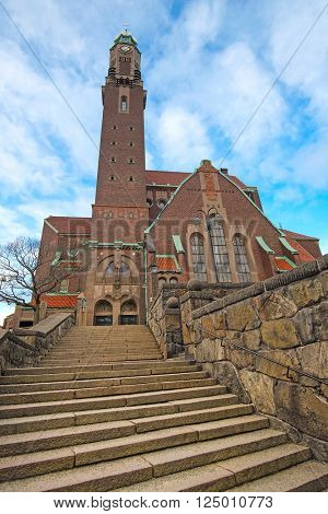 Stockholm, Sweden - March, 16, 2016: Catholic temple in Stockholm, Sweden