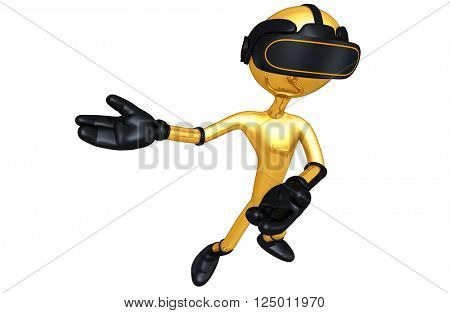 Virtual Reality VR Goggles Glasses Headset Device Concept 3D Illustration