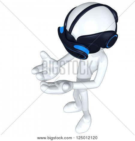 Virtual Reality VR Concept Goggles Glasses Headset Device 3D Illustration