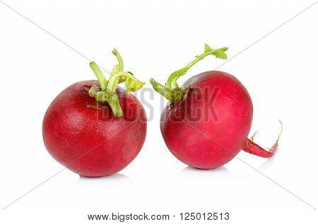 Red Radish Solated On The White Background