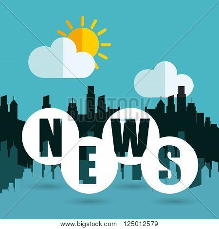 weather news design, vector illustration eps10 graphic