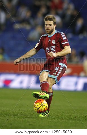 BARCELONA - FEB, 8: Asier Illarramendi of Real Sociedad during a Spanish League match against RCD Espanyol at the Power8 stadium on February 8, 2016 in Barcelona, Spain