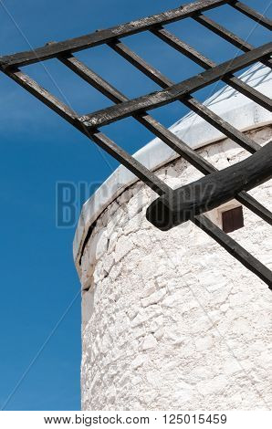 Don Quixote windmills at Consuegra Spain during the day ** Note: Visible grain at 100%, best at smaller sizes